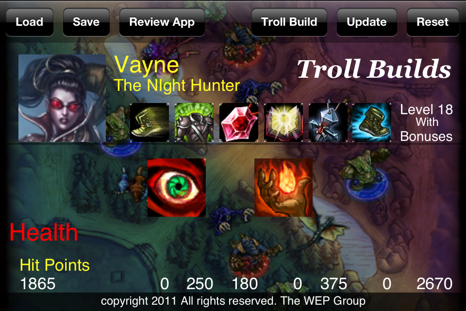 Screenshot LoL Troll Builds